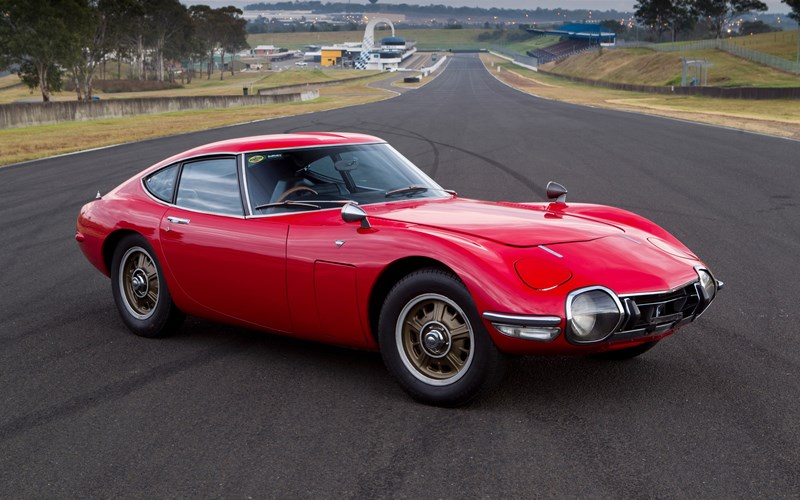 Toyota 2000GT with spares